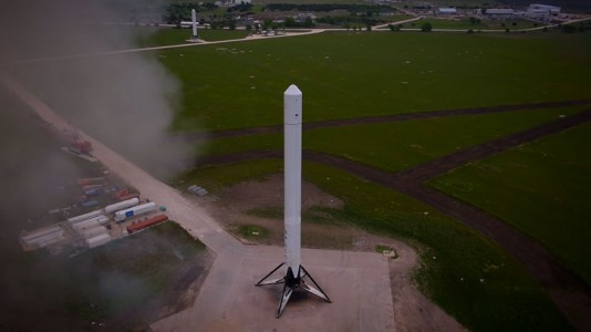 Watch The Spectacular Takeoff And Landing Of A Rocket As Filmed By A Drone (Video)-7