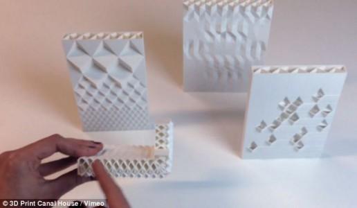 small bricks of 3d printed house