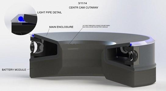 360 degrees recording camera