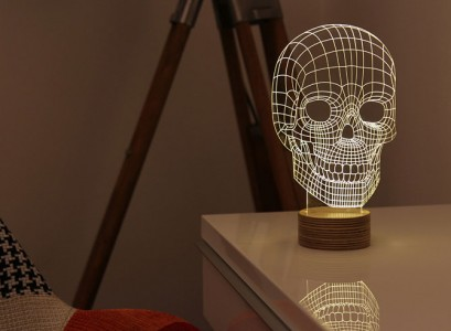 BULBING: A Flat LED Lamp That Gives ILLUSION Of 3D Shapes-