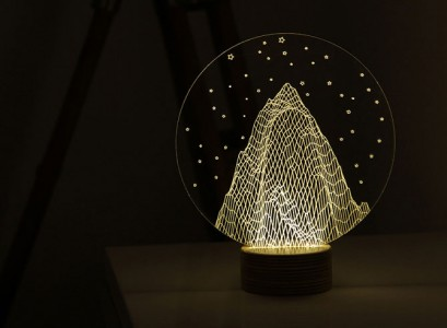 BULBING: A Flat LED Lamp That Gives ILLUSION Of 3D Shapes-3