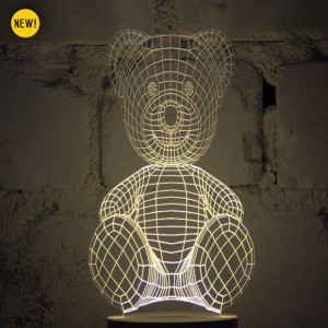 BULBING: A Flat LED Lamp That Gives ILLUSION Of 3D Shapes-7