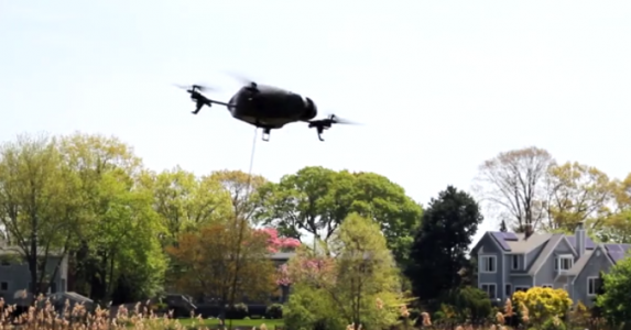 Drone Take Pet Dogs Out For A Walk-