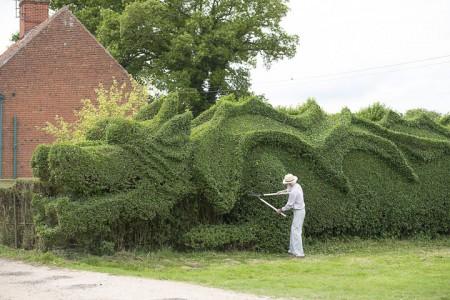 An English Gardener Grows A Giant Dragon In His Garden-1