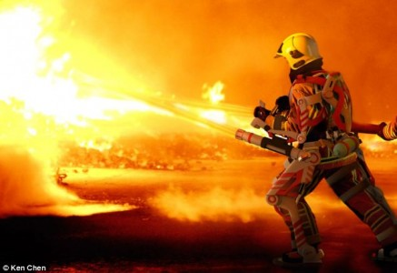 Exoskeleton to enhance power of firefighters
