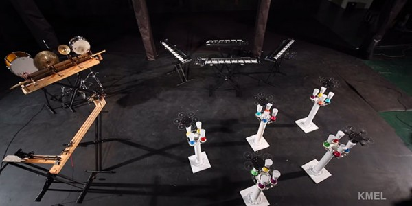 Flying Drones Play Extraordinary Orchestra Classics To The Perfection-