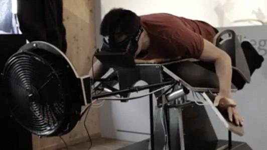 Flying Oculus rift