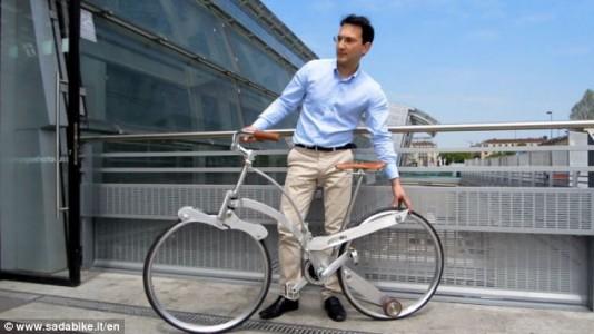Amazing Hubless Origami Bicycle Fold Like An Umbrella-3