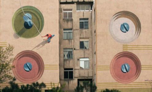 Mehdi Ghadyanloo An Urban Artist Turns Streets Of Tehran Into Art Gallery-7