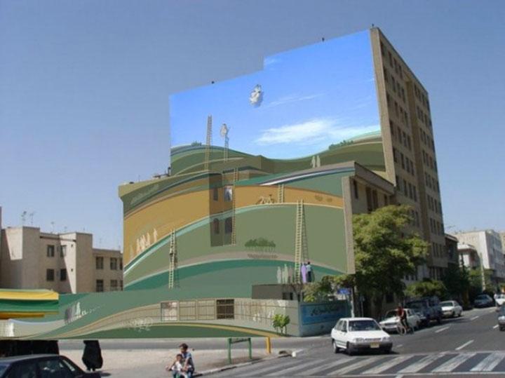 Mehdi Ghadyanloo An Urban Artist Turns Streets Of Tehran Into Art Gallery-8