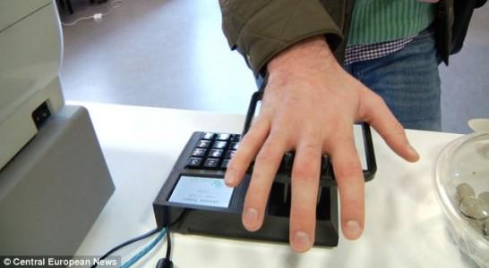 Palm Detection biometric system