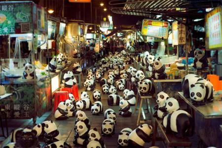 1600 Paper Mache Pandas Invade The City Of Hong Kong-1