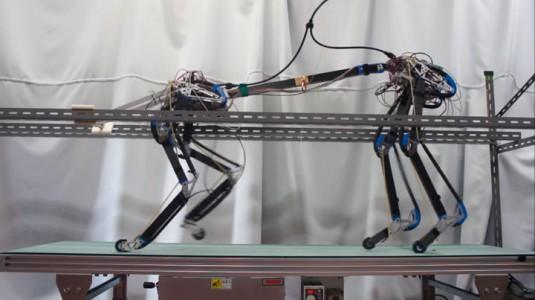 Pneupard: A Quadruped Robot Walks Like A Cheetah Using Artificial Muscles-2