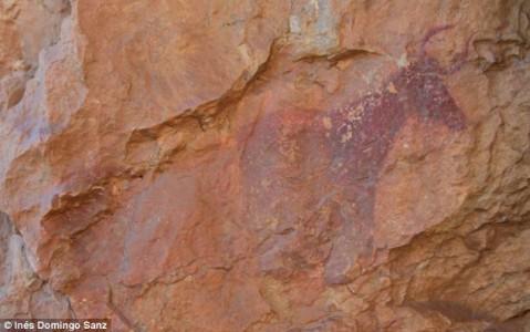 Spanish cave prehistorian painting