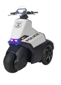Tricycle replacing the Police car