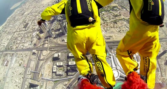 Two French Make World Record By Jumping From World's Highest Tower (Video)-7