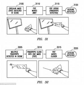 control wristwatch using gestures