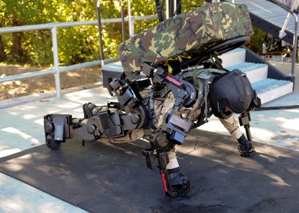 The exoskeleton XOS2-6 New Stunning Military Technologies That Are Already A Reality-12