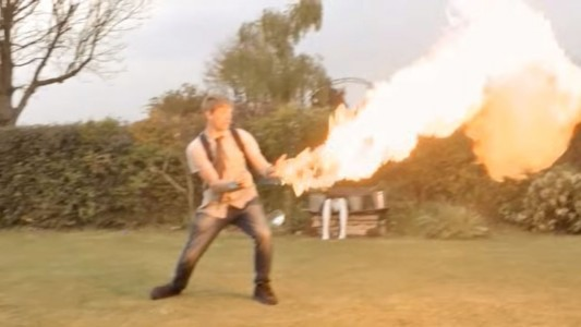 A Crazy Fan Of X-Men Invents A Portable Flamethrower To Mimic Pyro-1