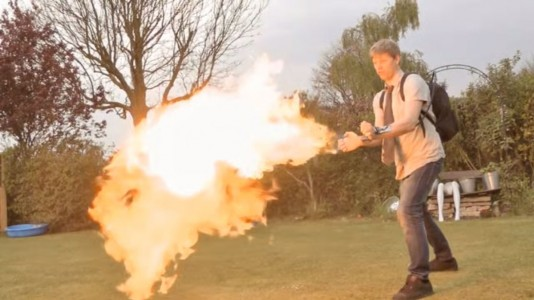 A Crazy Fan Of X-Men Invents A Portable Flamethrower To Mimic Pyro-2