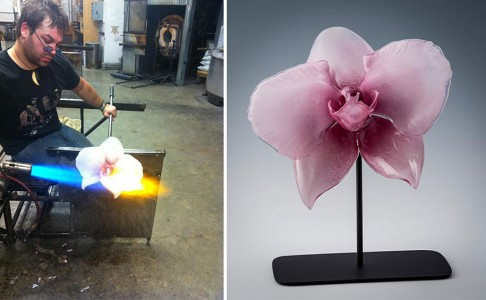 Gigantic And Realistic Flower Sculptures Made From Glass -7