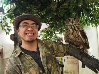 An Unusual Owl Bar Where You can Drink Coffee While Cuddling Owls-6