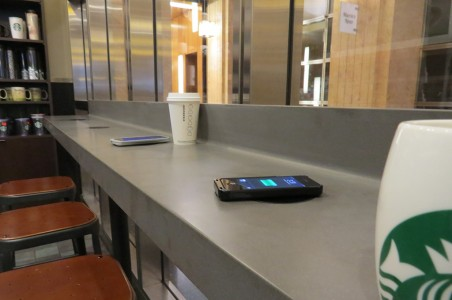 Starbucks Installing Wireless Charging Pads Across Its Outlets-1