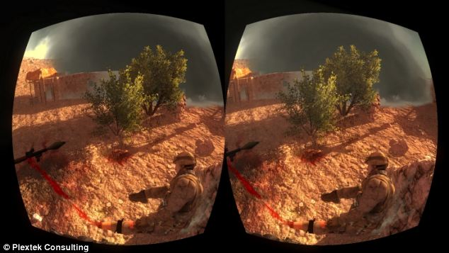 view from oculus rift made for medical staff