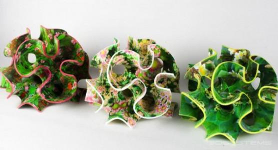 3D printed colored sugar cubes