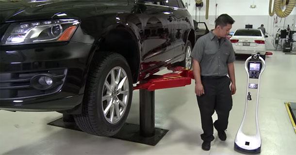 Audi Testing A Robotic Assistant For Auto Mechanics-1