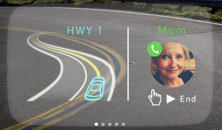 Navdy's New Head-up Display Lets Car Drivers Use Smartphone On Windscreen-1