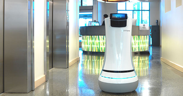 SaviOne: A Futurisic Robot Used By Aloft Hotel California For Room Service-1