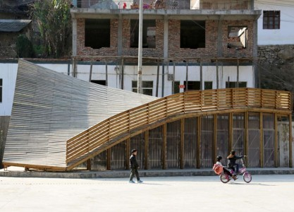 The Pinch: An Amazing Community Library With Double Roof Curved As Slide-6