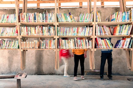The Pinch: An Amazing Community Library With Double Roof Curved As Slide-7