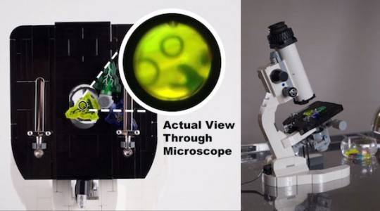 World's First Functional Microscope Made Using LEGO Bricks-3