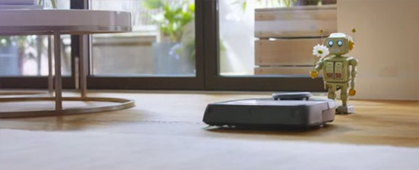 A Cute Love Story Between A Robot And A Robotic Vacuum Cleaner-