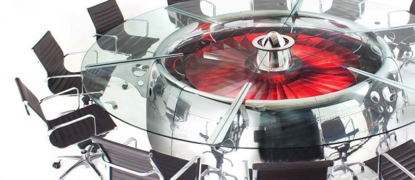 This Amazing Conference Table Is Actually A Huge Jet Engine-2