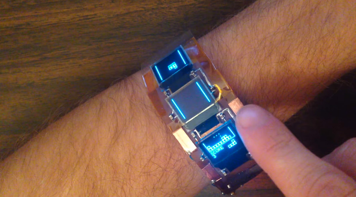 Play Tetris Anytime And Anywhere With This High-tech Wristband-3
