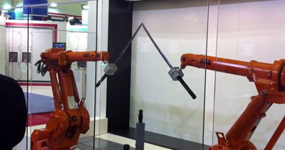 ABB's High Precision Robots Fight Like Samurai's-
