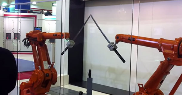 ABB's High Precision Robots Fight Like Samurai's-