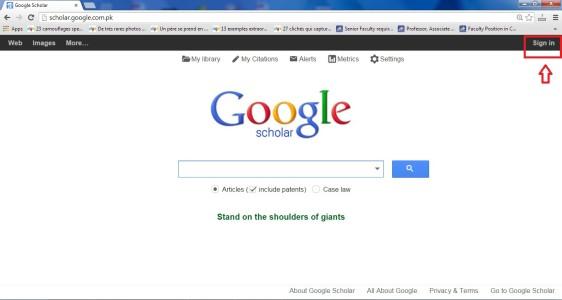 Sign In To Google Schlolar