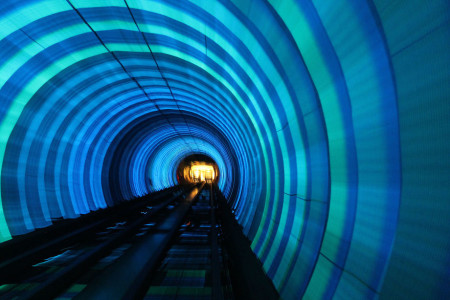The tunnel Bund in Shanghai, China-25 Most Beautiful Subway Stations Around The World (Photo Gallery)-