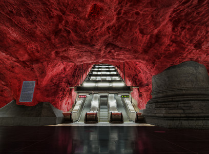 Solna station in Stockholm-25 Most Beautiful Subway Stations Around The World (Photo Gallery)-1