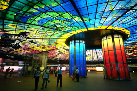 Formosa Boulevard station in Kaohsiung, Taiwan-25 Most Beautiful Subway Stations Around The World (Photo Gallery)-11