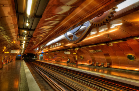 station Arts et Métiers in Paris-25 Most Beautiful Subway Stations Around The World (Photo Gallery)-24