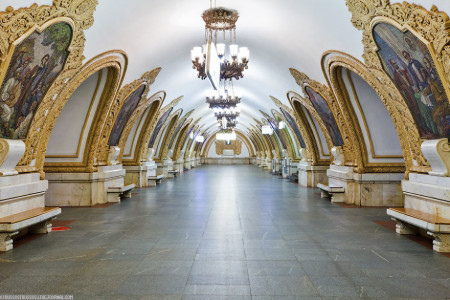 Moscow-25 Most Beautiful Subway Stations Around The World (Photo Gallery)-4