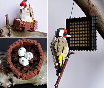 Amazing Bird Models Made Using Simple LEGO Bricks-15