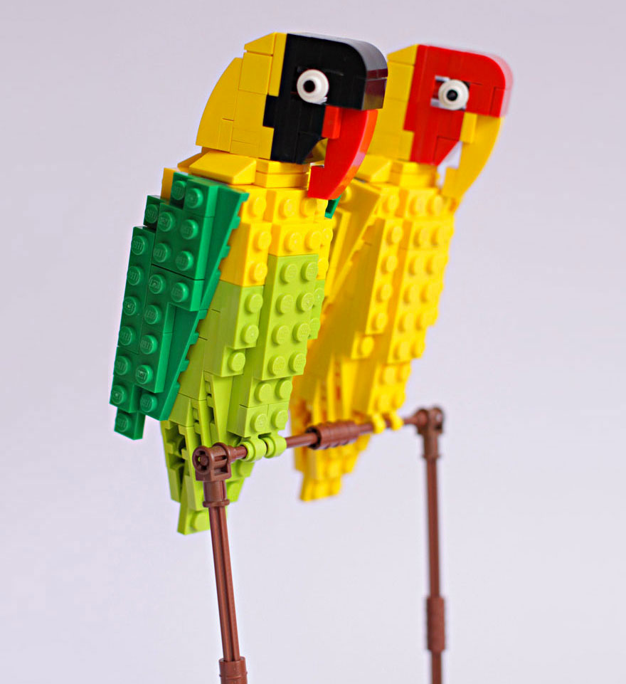 Amazing Bird Models Made Using Simple LEGO Bricks-9