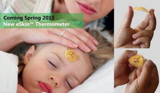 CES 2015: Eskin, A NFC Thermometer To Be Used As Sticker On Skin-