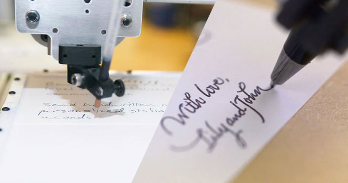 This Little Robot Can Imitate Your Handwriting With Perfection-1